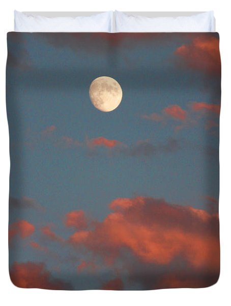 Moon Sunset Vertical Image Duvet Cover by James BO  Insogna