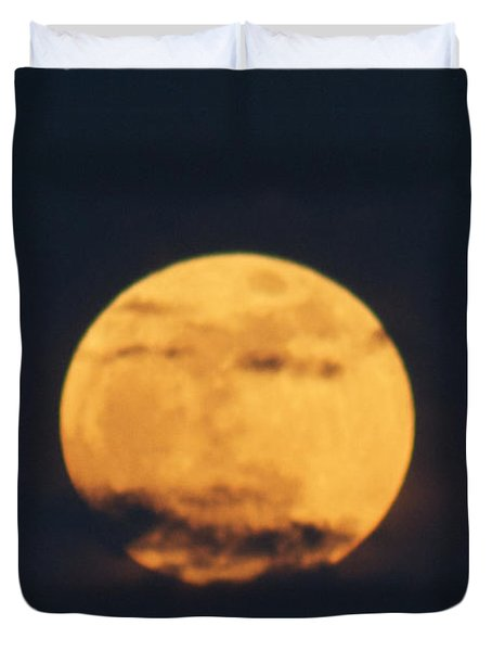 Duvet Cover featuring the photograph Moon by William Norton