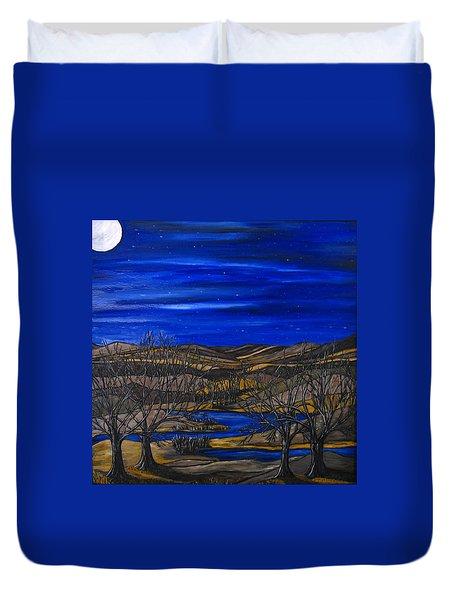 Moonlit Night Duvet Cover