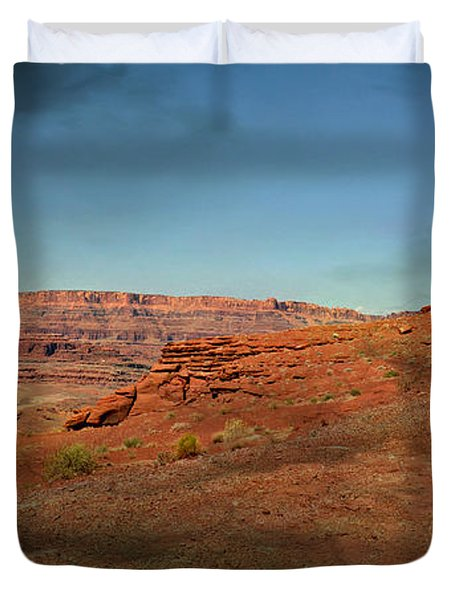 Moonrise On The Mesa Duvet Cover by Marty Koch