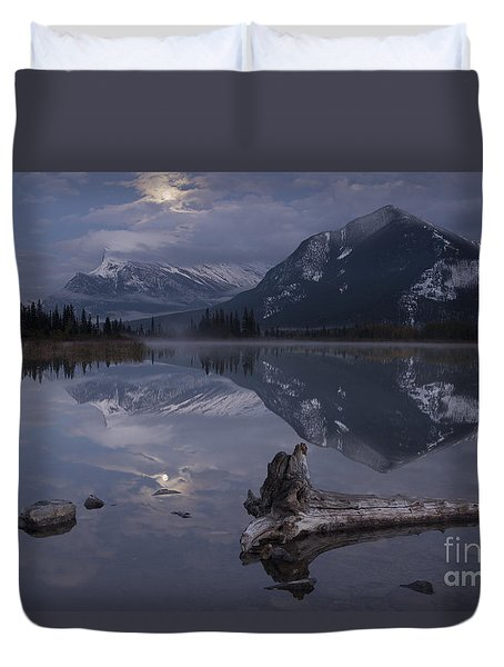 Moonrise Over Banff Duvet Cover
