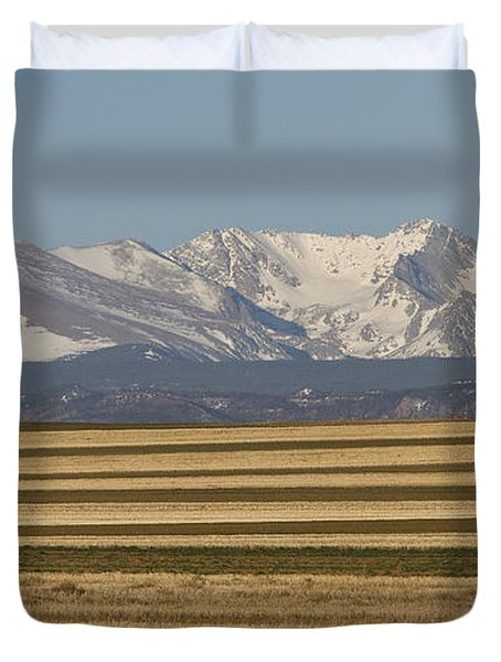 Moons Set On The Colorado Plains Duvet Cover by James BO  Insogna