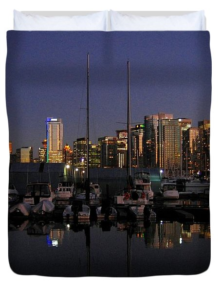 Moored For The Night Duvet Cover by Will Borden