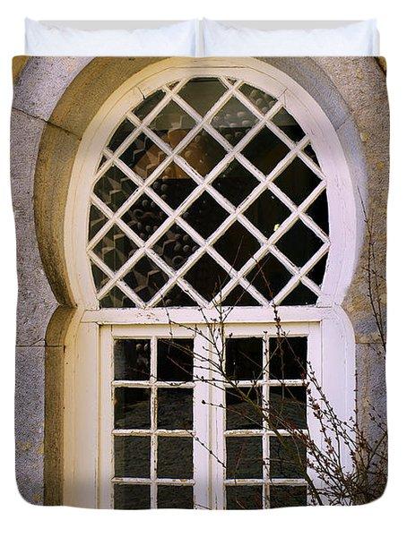 Moorish Window Duvet Cover by Carlos Caetano
