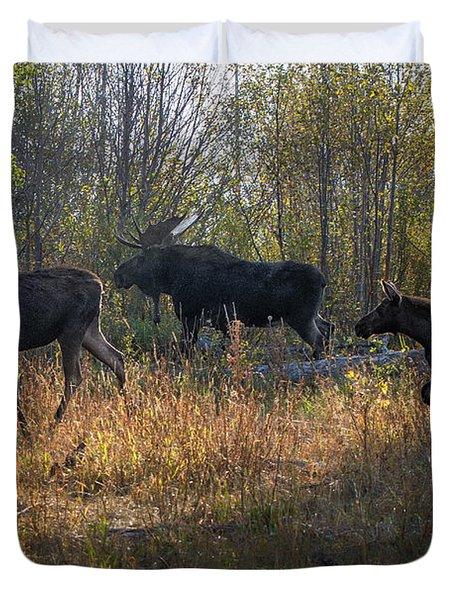 Moose Family Duvet Cover