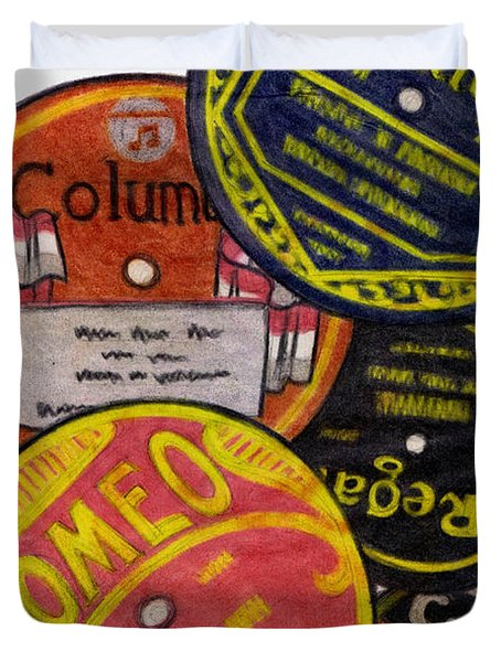 More Old Record Labels  Duvet Cover