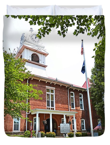 Morgan County Courthouse Duvet Cover by Paul Mashburn