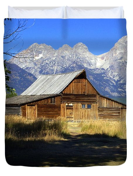 Duvet Cover featuring the photograph Mormon Row Barn by Marty Koch