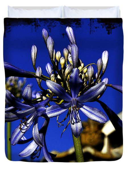 Duvet Cover featuring the photograph Morning Blooms by Clayton Bruster