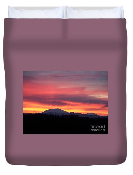 Duvet Cover featuring the photograph Morning Glow by Chalet Roome-Rigdon