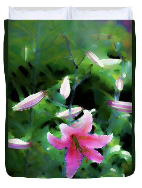 Duvet Cover featuring the photograph Morning Glow by Tom Prendergast