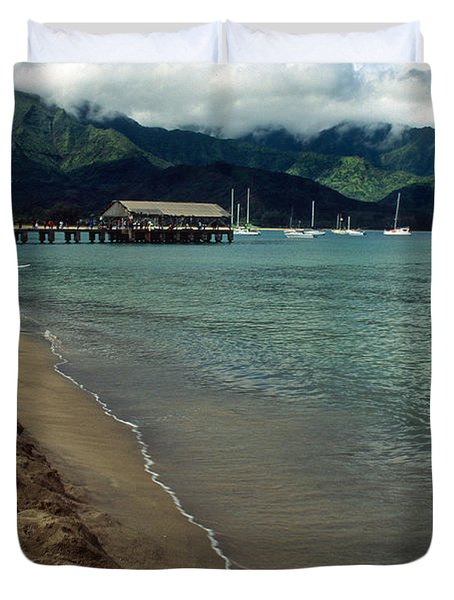 Morning In Hanalei Bay Duvet Cover by Kathy Yates