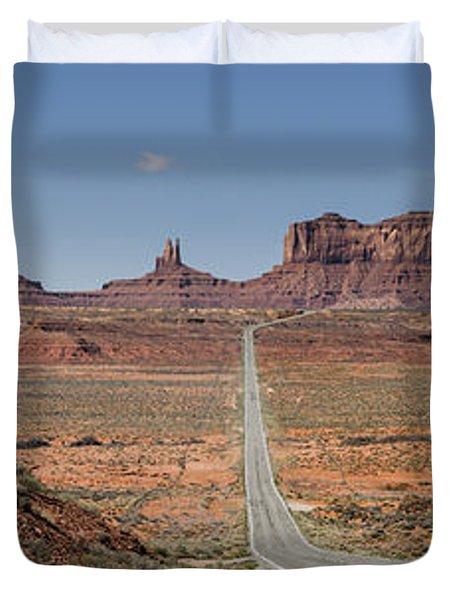 Morning In Monument Valley Duvet Cover by Sandra Bronstein