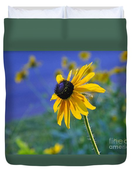 Duvet Cover featuring the photograph Morning Light by Nava Thompson