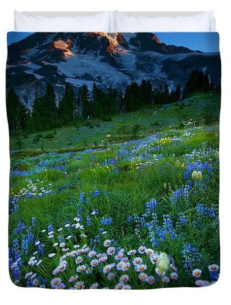 Morning Majesty Duvet Cover by Mike  Dawson