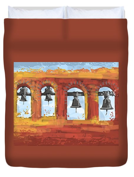 Morning Mission Bells Duvet Cover