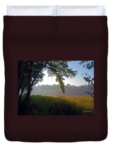 Morning On The River Duvet Cover