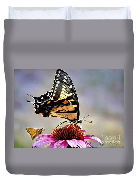 Duvet Cover featuring the photograph Morning Snack by Nava Thompson