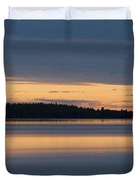 Morning Sun Rising At Arctic Sea Duvet Cover by Heiko Koehrer-Wagner