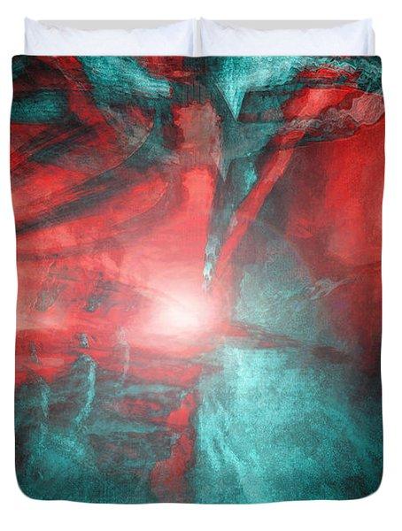 Morphing Thru Time Duvet Cover by Linda Sannuti
