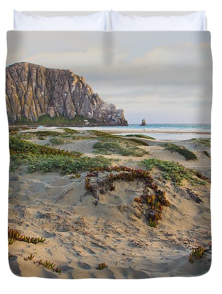 Morro Rock Duvet Cover by Heidi Smith