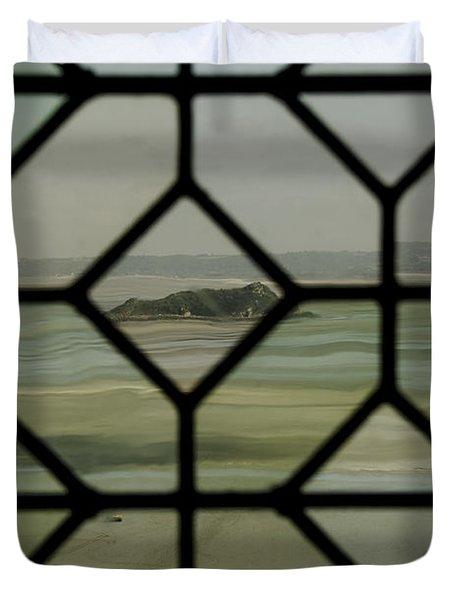 Duvet Cover featuring the photograph Mosaic Island by Marta Cavazos-Hernandez
