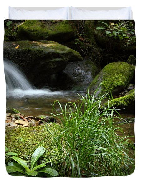 Moss And Water And Ambience Duvet Cover by Andrew McInnes