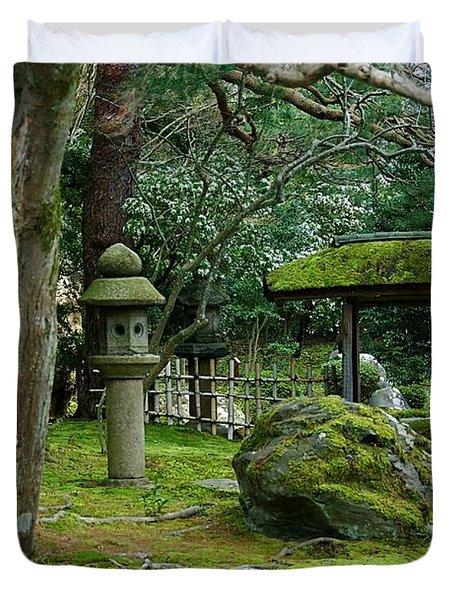 Moss Covered Park Duvet Cover