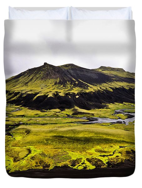 Moss In Iceland Duvet Cover