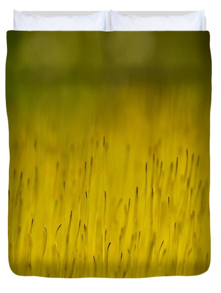 Moss In Yellow Duvet Cover