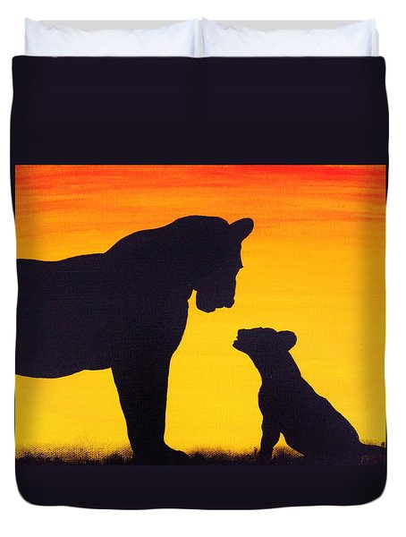 Mother Africa 3 Duvet Cover by Michael Cross