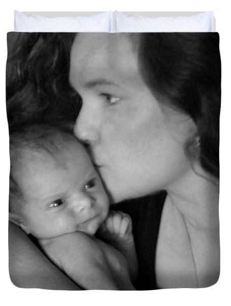 Mother And Child Duvet Cover by Kelly Hazel