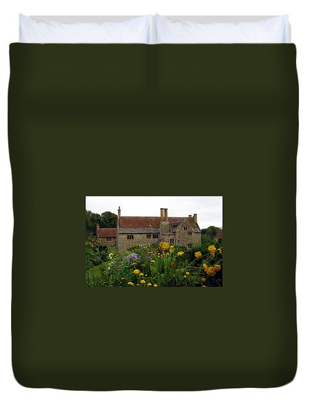 Duvet Cover featuring the photograph Mottiston Manor by Carla Parris