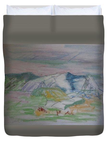 Mount Desert Back Side Duvet Cover