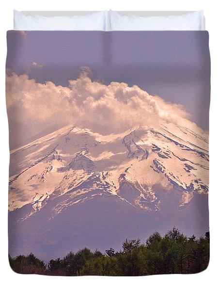 Mount Fuji Duvet Cover by David Rucker