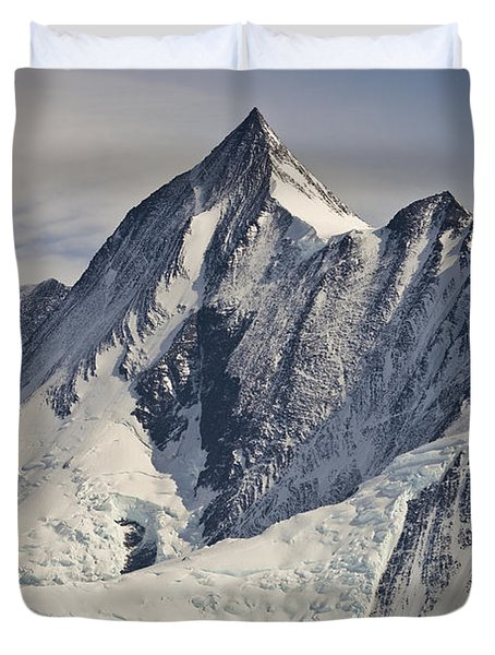Mount Herschel Above Cape Hallett Duvet Cover