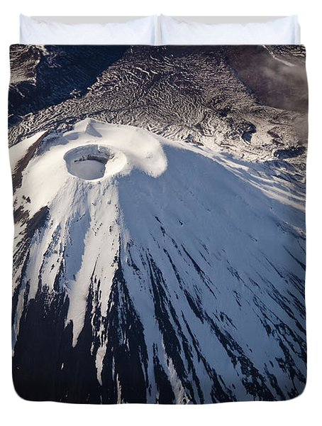 Mount Ngauruhoe Tongariro Np New Zealand Duvet Cover by Colin Monteath