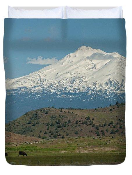 Mount Shasta Duvet Cover