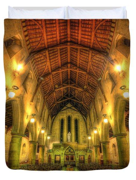 Mount St Bernard Abbey - The Nave Duvet Cover by Yhun Suarez