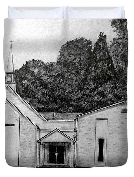 Mount Union Church Of The Brethren Duvet Cover by Julie Brugh Riffey