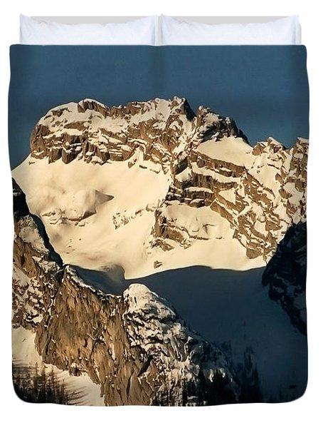 Mountain Christmas Austria Europe Duvet Cover by Sabine Jacobs