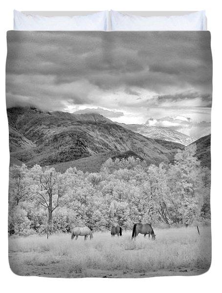 Mountain Grazing Duvet Cover by Joann Vitali