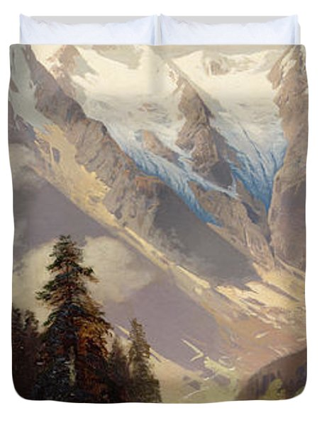 Mountain Landscape With The Grossglockner Duvet Cover by Nicolai Astudin