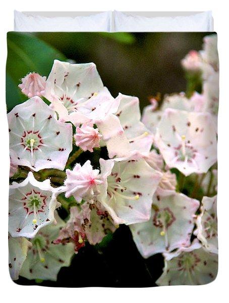 Mountain Laurel Flowers Duvet Cover