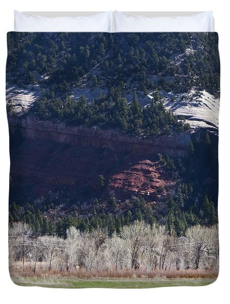 Duvet Cover featuring the photograph Mountain Pasture by Lorraine Devon Wilke