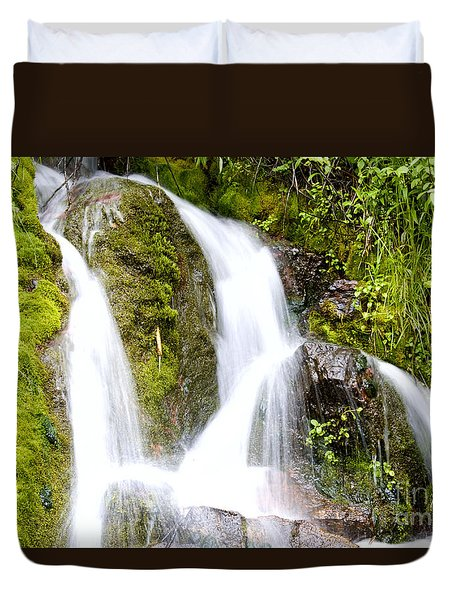 Duvet Cover featuring the photograph Mountain Spring 3 by Janie Johnson