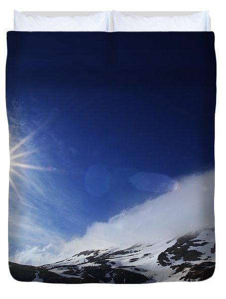 Mountain Sun Duvet Cover