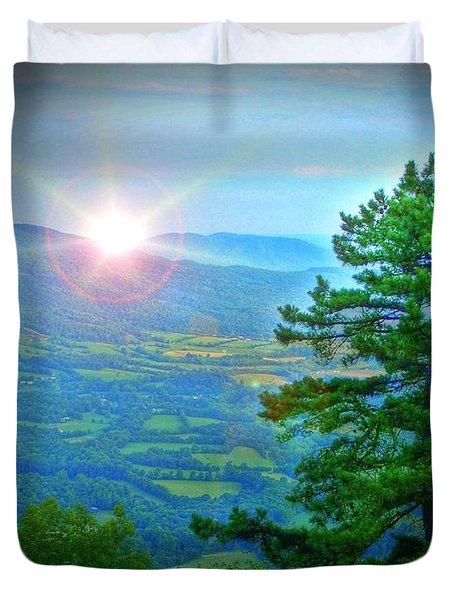 Mountain Sunrise Duvet Cover by Dan Stone