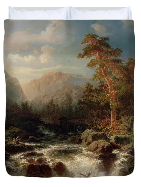 Mountain Torrent Smaland Duvet Cover by Marcus Larson