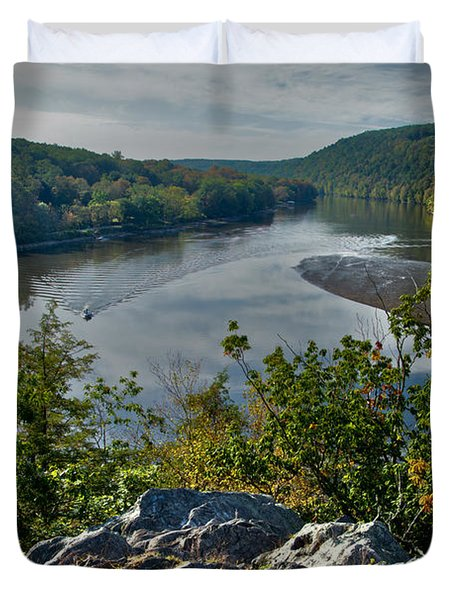 Mountain View Duvet Cover by Karol Livote